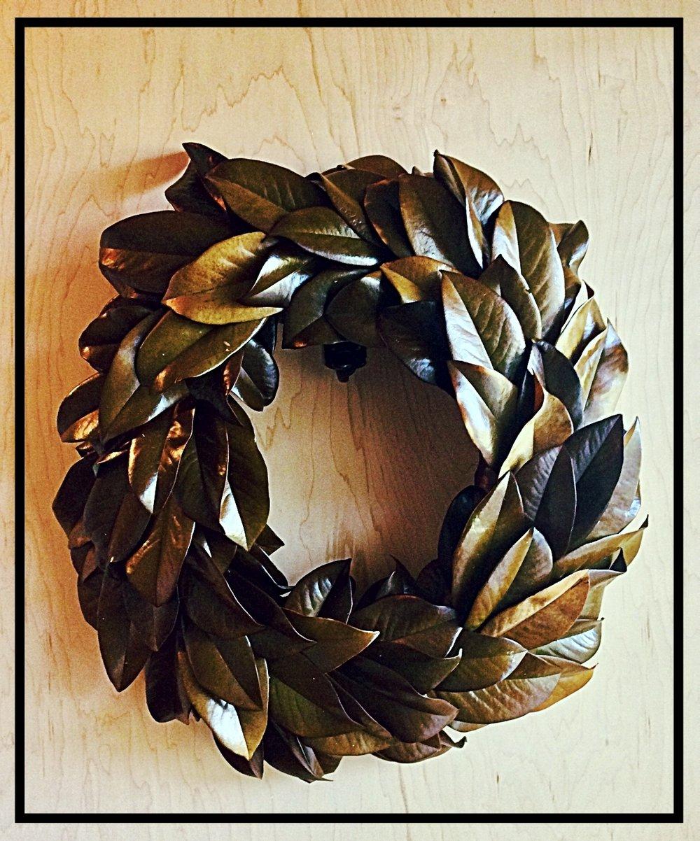 Authentic Magnolia Wreath