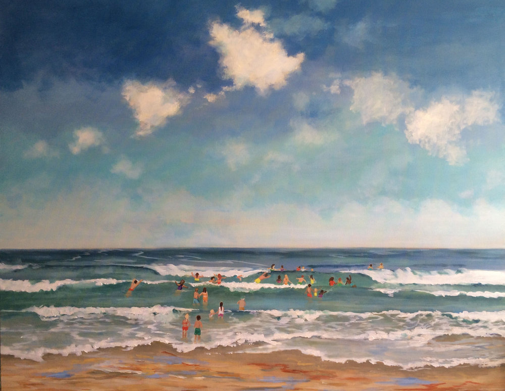 BEACH DAY | MIXED MEDIA | 48X60