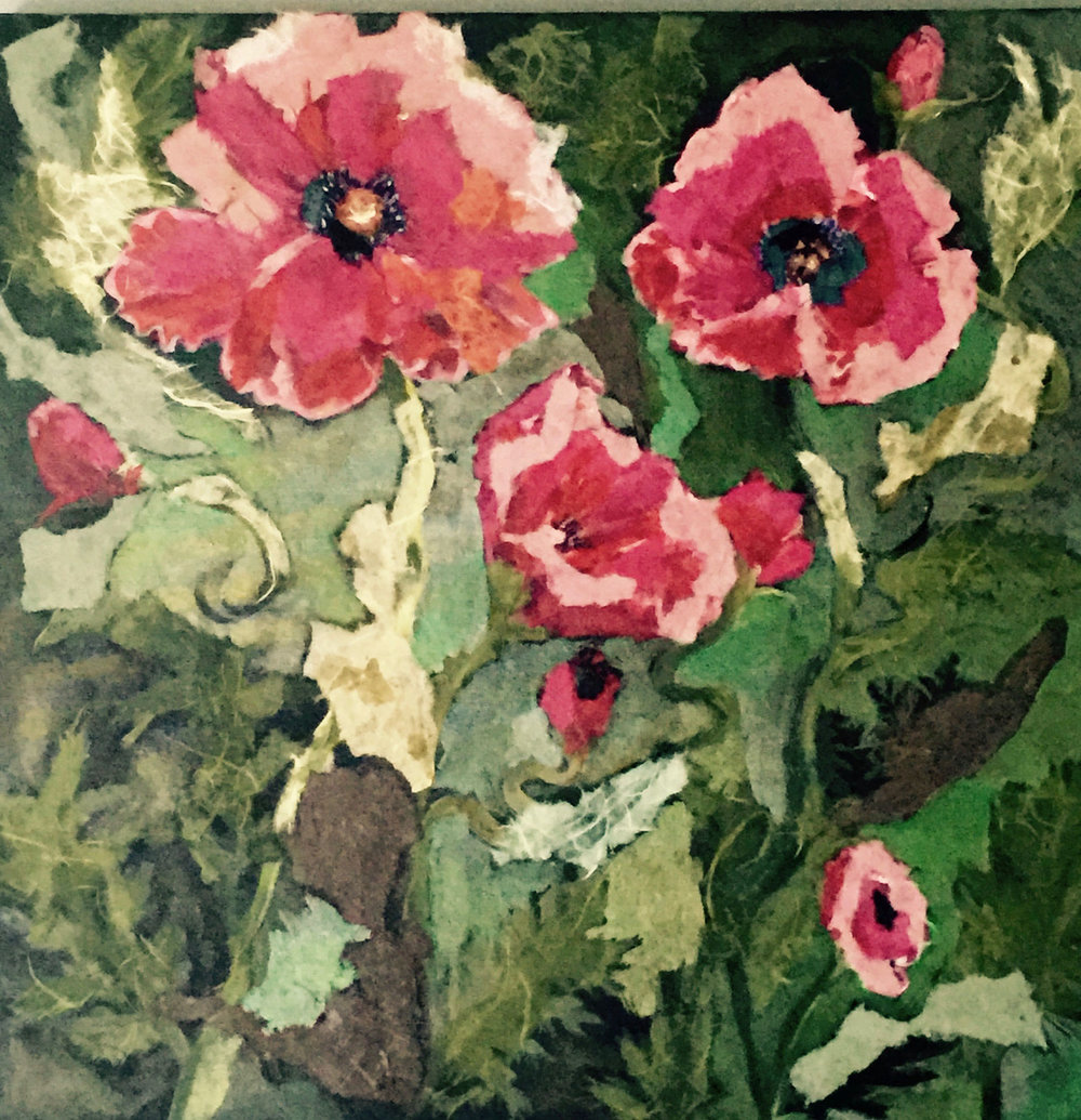 POPPIES | MIXED MEDIA | 24 x 24