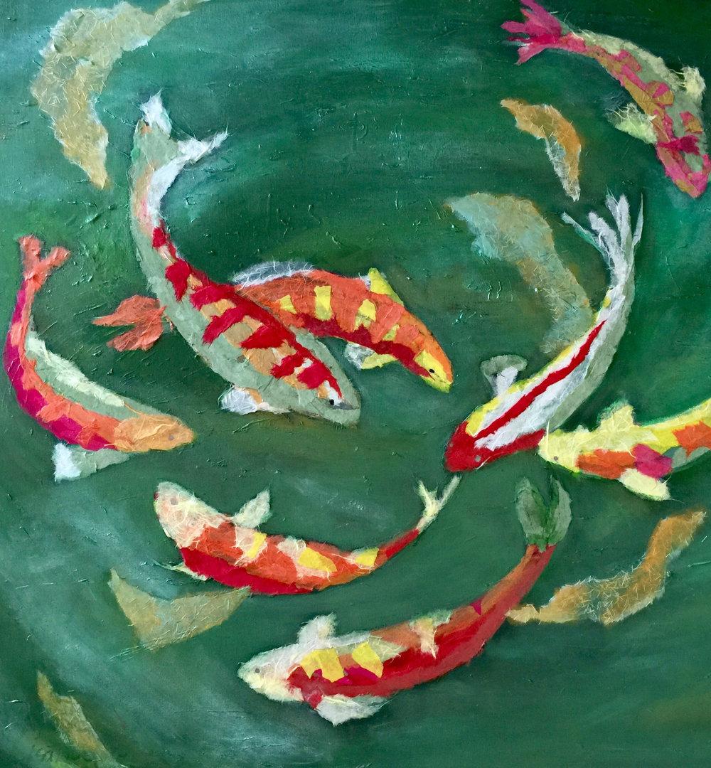 FISH TALES | 36 x 36