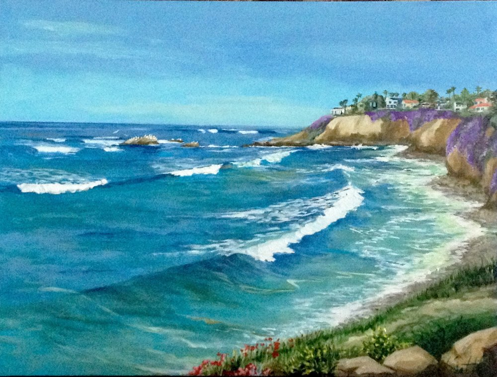 BIRD ROCK CLIFFS | OIL | 30X40