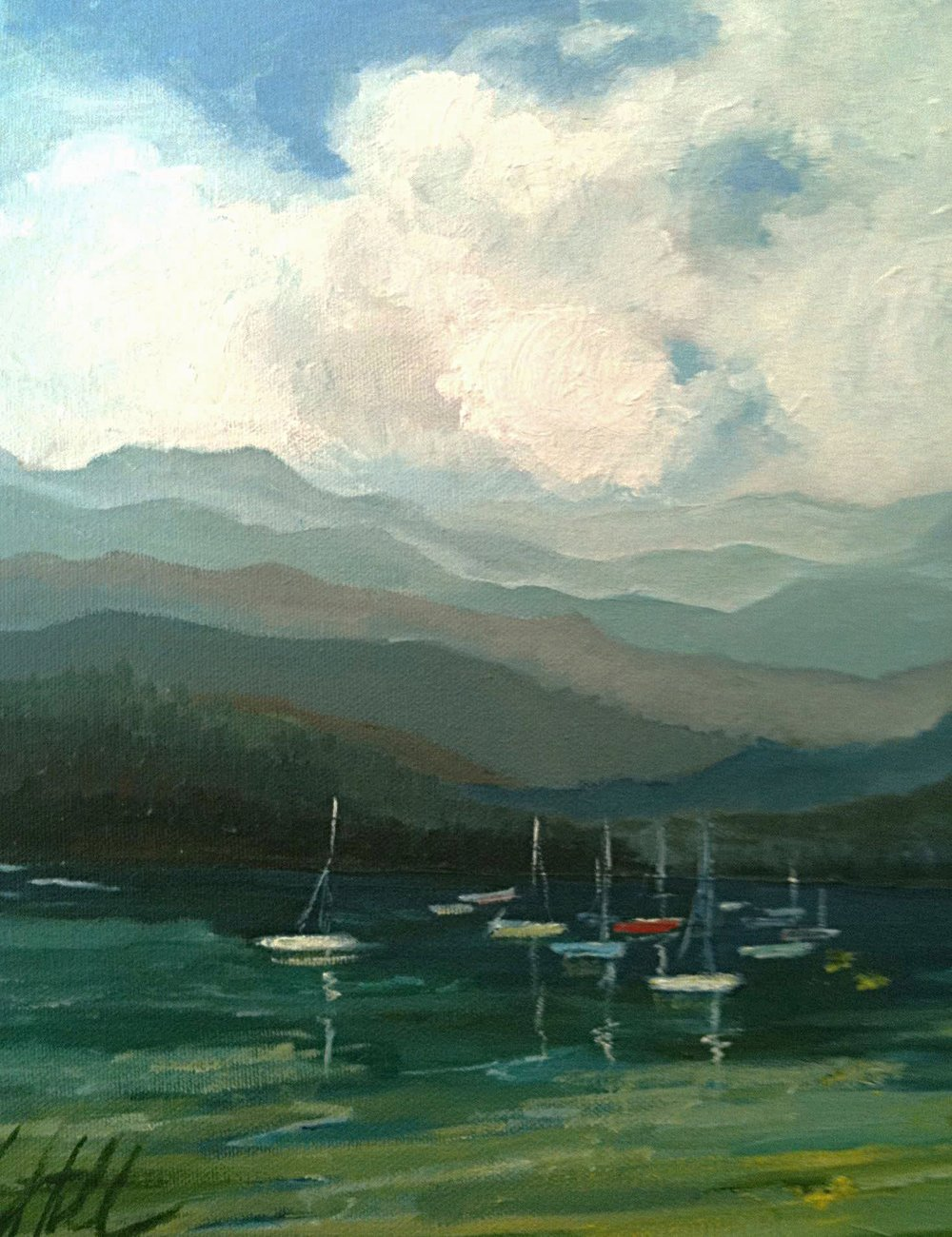 SAILS AT TAHOE |  OIL | 11X14