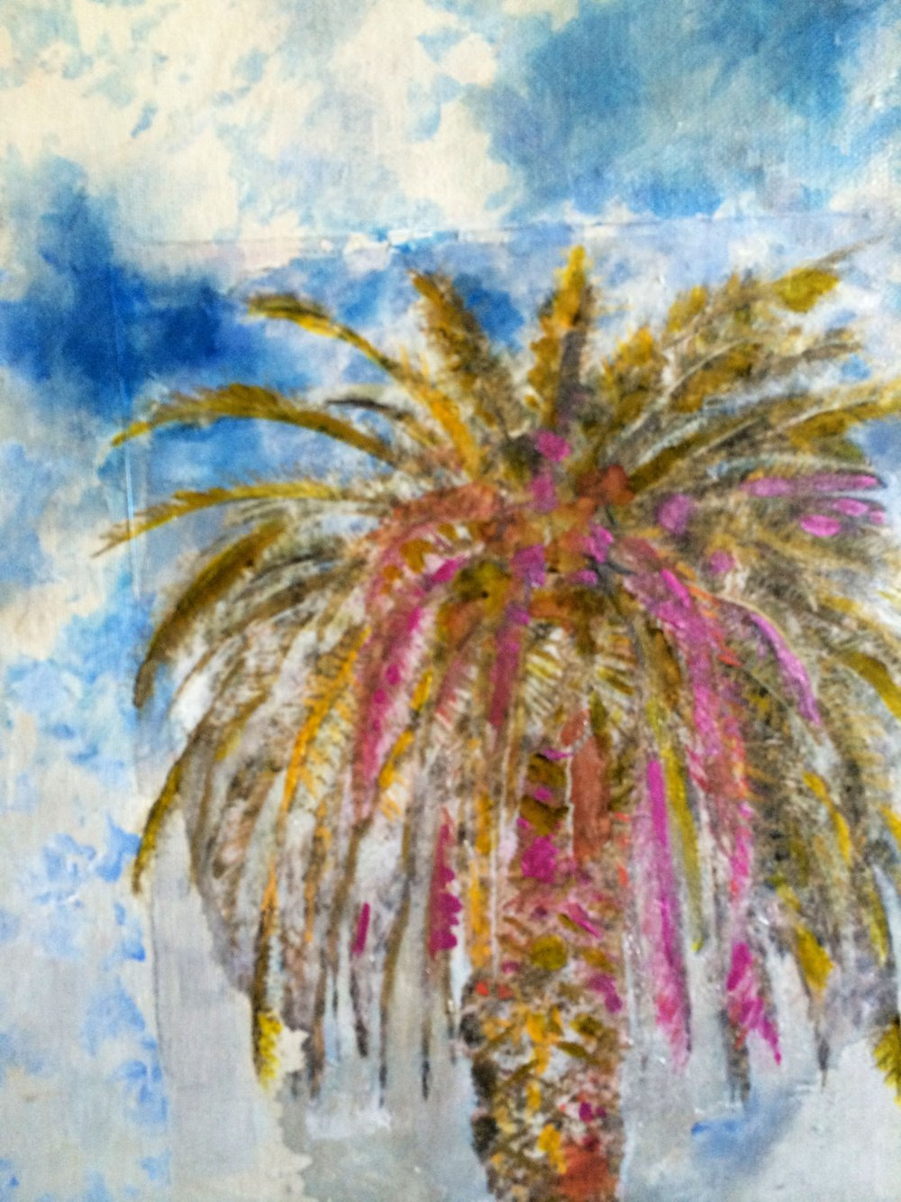 PALM | MIXED MEDIA | 11 X 14
