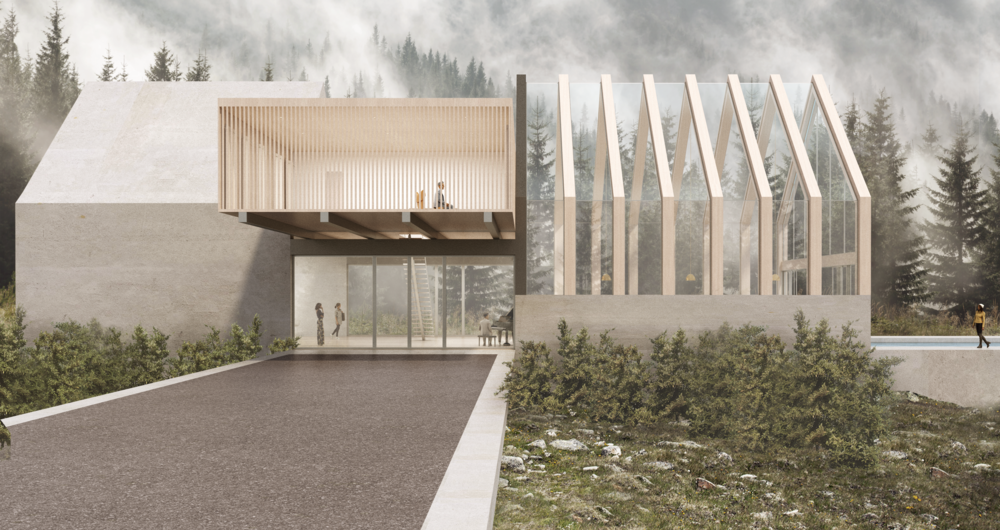 Proposal for a vacation home at Mammoth Lakes - Design by BNDL