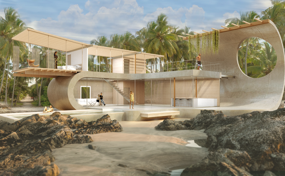 Proposal for a beach house in Tulum - Design by BNDL