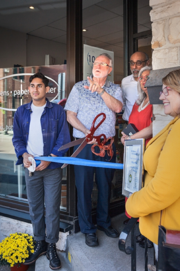The mayor of Cambridge, Doug Craig, re-inaugurated our shop for our Tenth Anniversary. It seems like it was just yesterday when we had our original ribbon-cutting ceremony!
