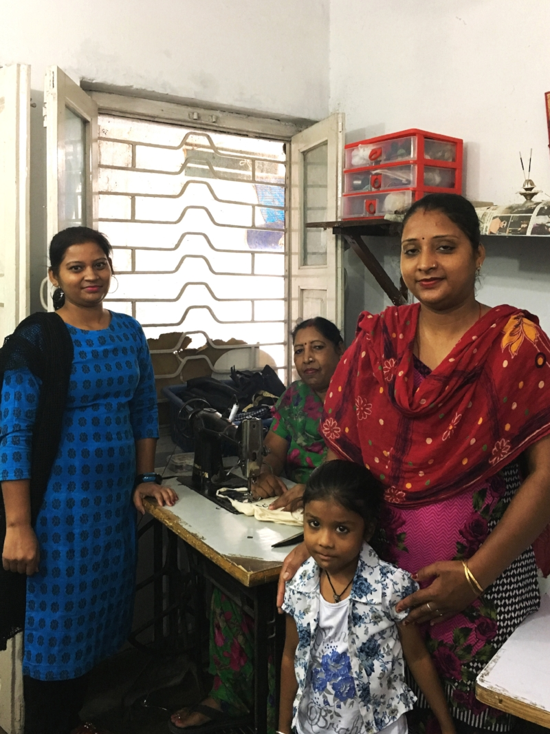 These ladies are the sewing team who put together the bags that we use at the store. They're pictured here with one of their daughters. It's truly incredible how many people work so hard behind the scenes to make Phidon happen.