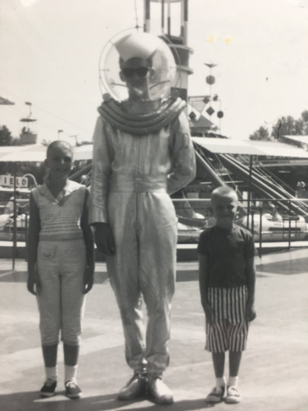 Disneyland 1965 with sister & astronaut character