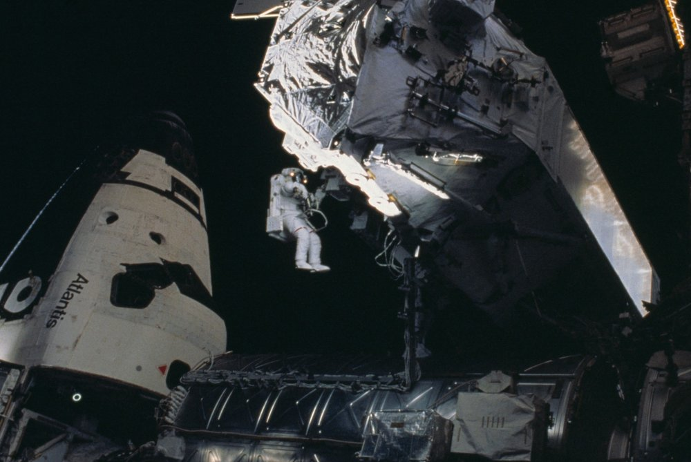 Spacewalking with  Atlantis  and Space Station