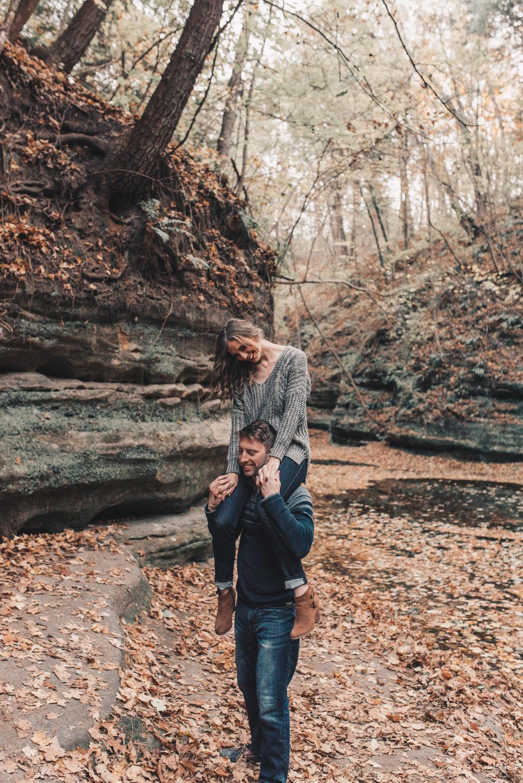 Adventurous Couples Photography, Illinois Engagement Session, Matthiessen State Park, Midwest Summer Engagement Session, Starved Rock, Matthiessen State Park Engagement Photos