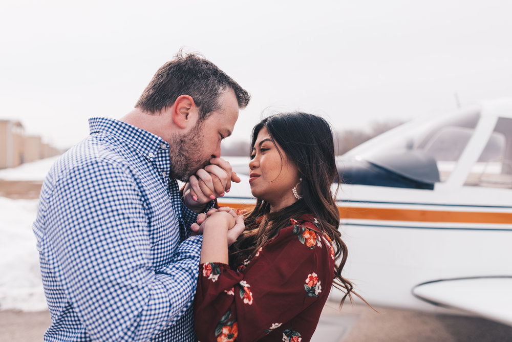 Adventurous Couples Photos, Romantic Airplane Engagement Session, Chicago Wedding Photographer, Chicago Engagement Photographer, Illinois Elopement Photographer, Illinois Engagement Photographer