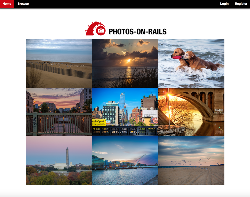 Photos-on-Rails Screenshot