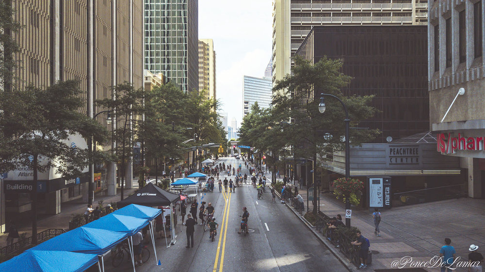 Re-imagining Peachtree at Atlanta Streets Alive 2018