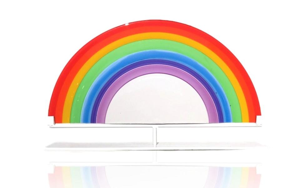 "Rainbow!!!    10""Hx16""Wx3""D"
