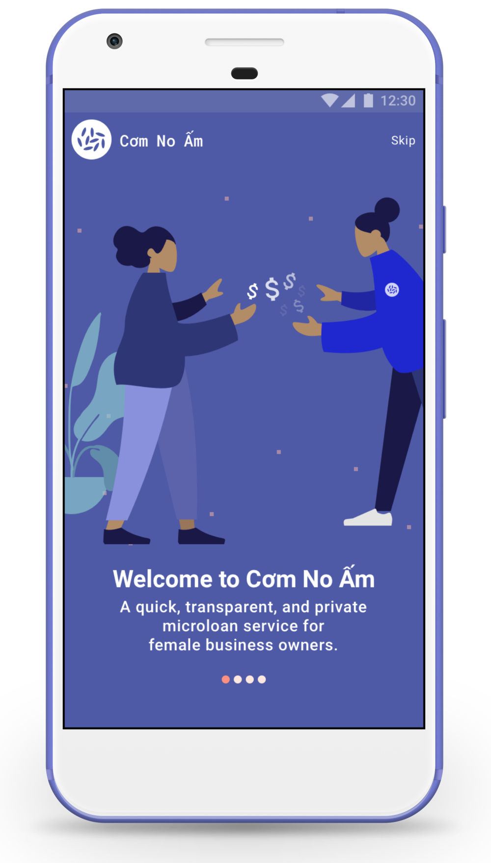 Market Adoption Plan:  Customer teams are sent to approach the users at the markets to introduce the new service and onboard them onto the app. The teams are equipped with a conversational guide and leave-behind materials.