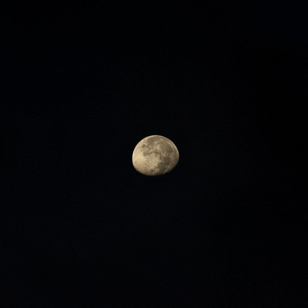 Lua - Quando faltam assuntos interessantes a fotografar,pode sempre recorrer-se à presença astral da nossa eterna companheira.