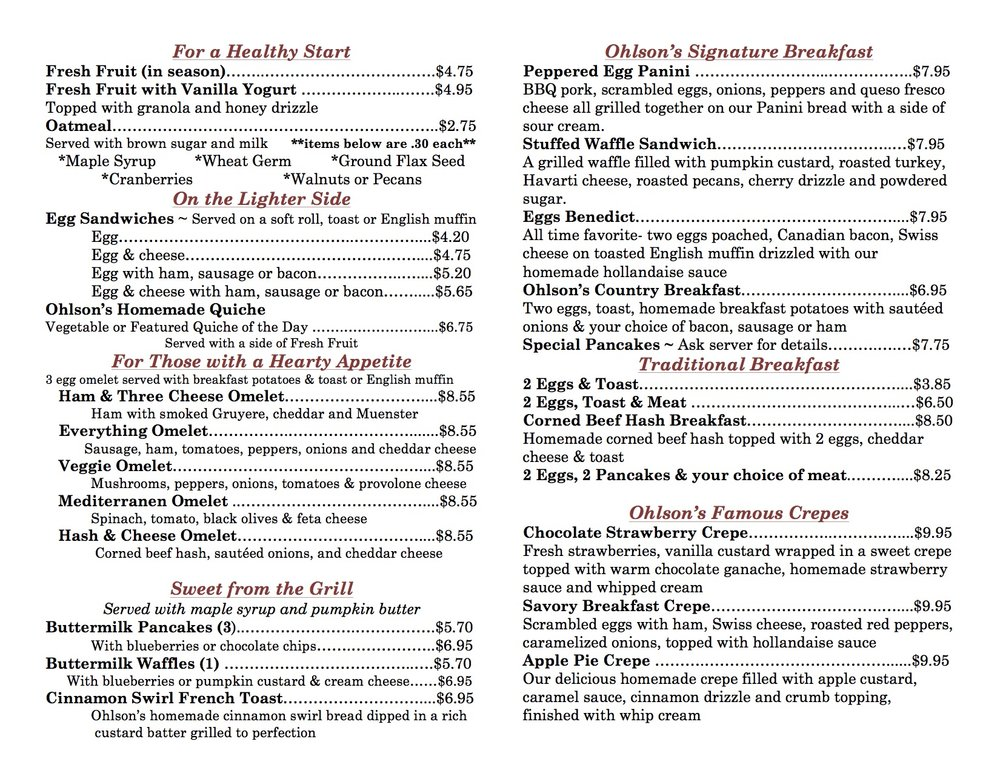 Breakfast is served:  Monday- Thursday, 7:30 - 11:00  Friday 6:30 - 11:00  Saturday 7:30 - 12:00