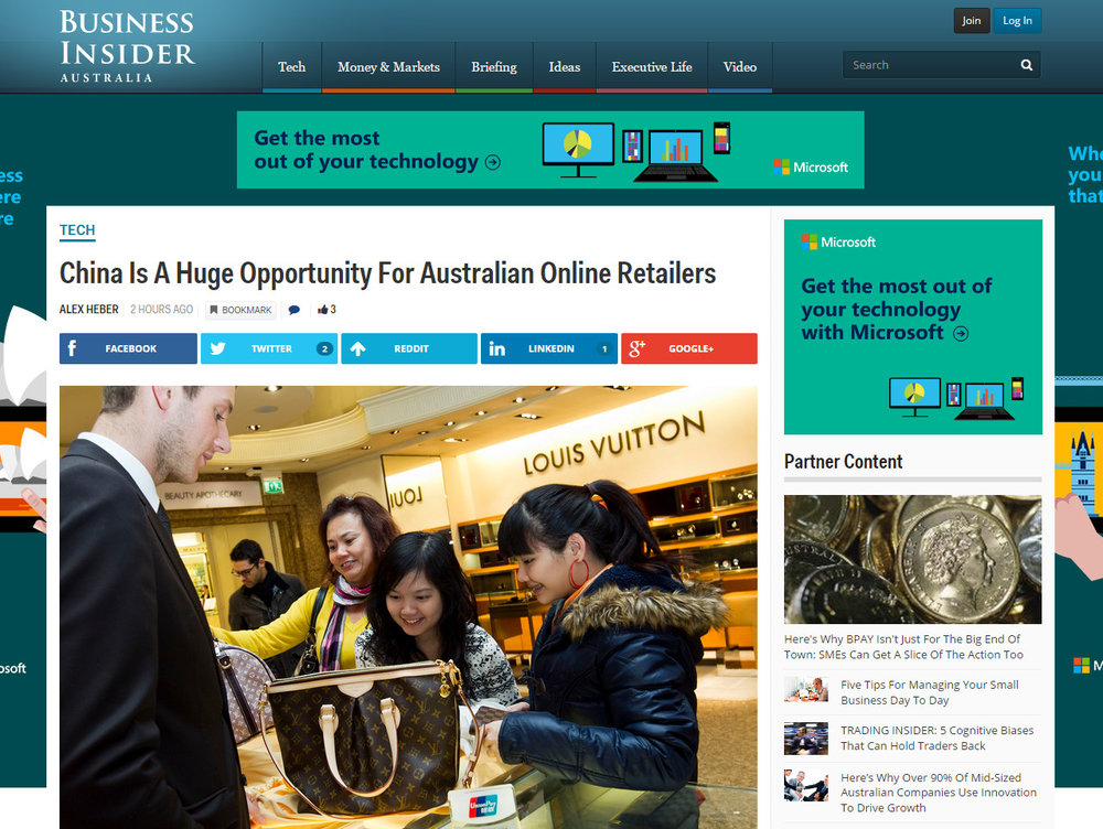 China Is A Huge Opportunity For Australian Online Retailers