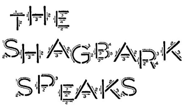 The Shagbark Speaks