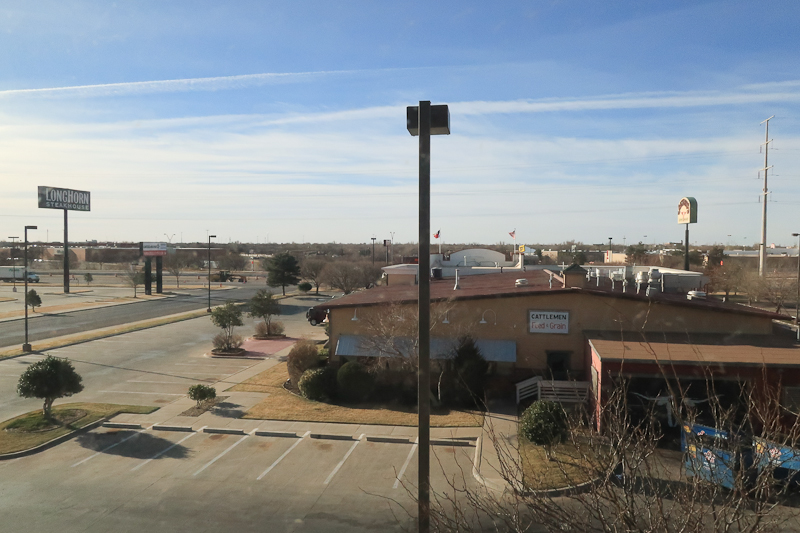 The view from the hotel. Amarillo, TX