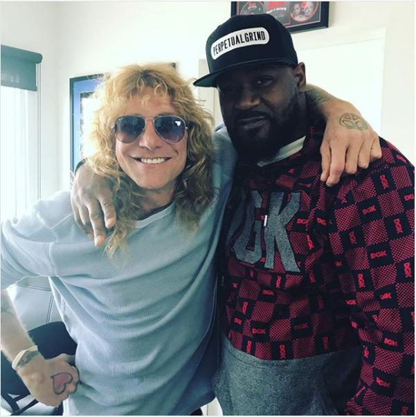 Former Guns N' Roses drummer Steven Adler and Ghostface Killah from the Wu-Tang Clan