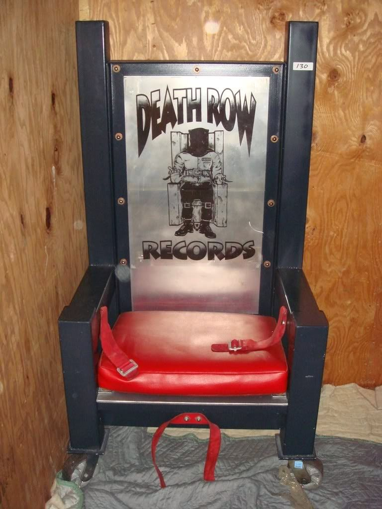 The infamous Death Row Records chair was seized from their offices in 2006