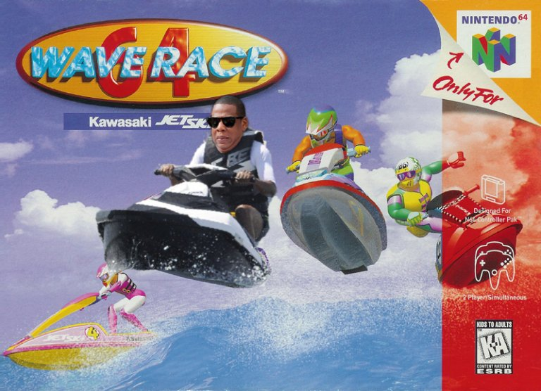 Who knew Jay-Z broke into the video game industry back in the 90s with an appearance on Wave Race
