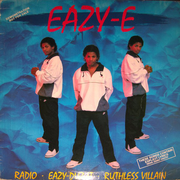 "The singles cover for ""Radio - Eazy-Duz-It - Ruthless Villian"""
