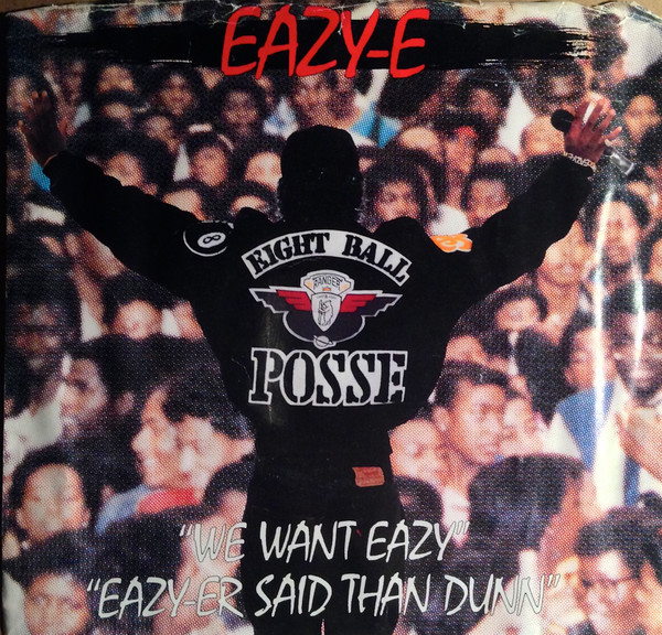 The cover for the Bootsy Collins cover ''We Want Eazy'' showing Eazy in front of a huge crowd (like the song)