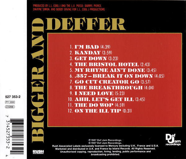 The  Bigger And Deffer  CD tracklist