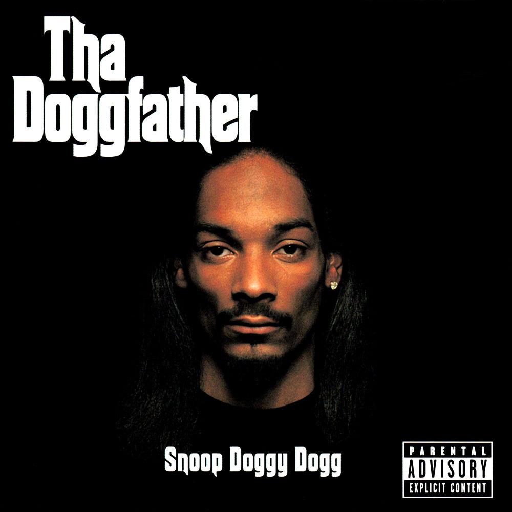The album cover for Snoop's  Tha Doggfather  from 1996