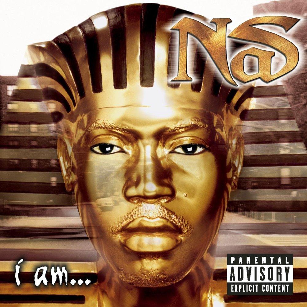 Nas' third album (cover),  I Am...  portrays Nas as a egyptian sphinx