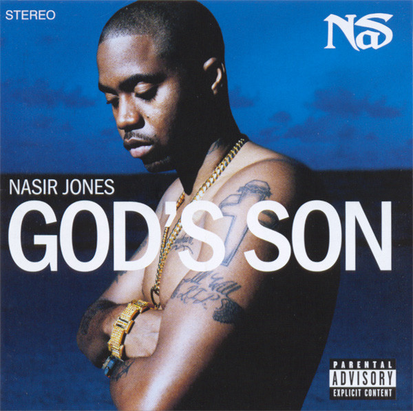 The album cover for Nas'  God's Son  is simplistic yet memorable