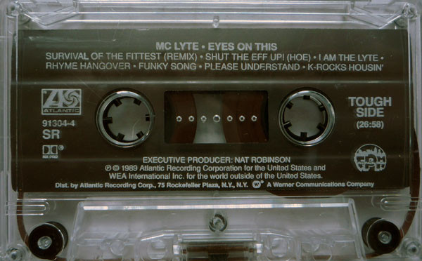 "The cassette version of MC Lyte's came with a ""rough"" side and a ""tough"" side rather than a side """"A"" and ""B"""