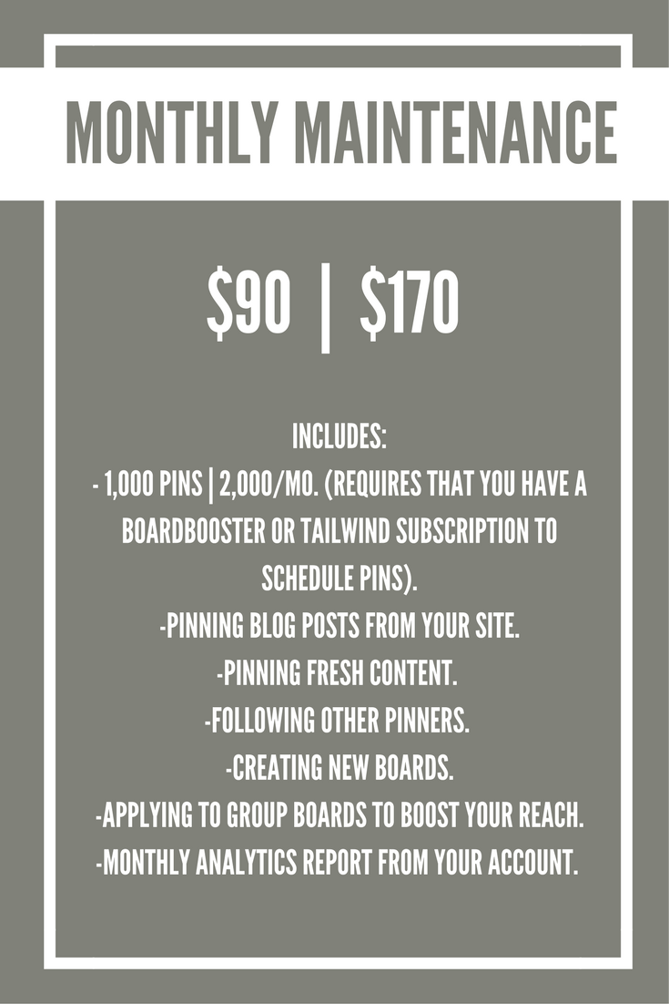 Pinterest-Monthly-Package