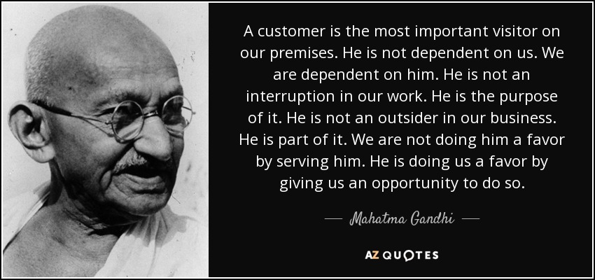 Gandhi did NOT say this. And why would we think he did?