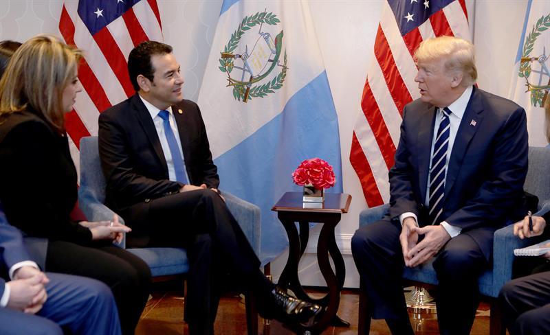 Trump y Jimmy Morales abogan por %22restaurar la democracia%22 en Venezuela .jpg