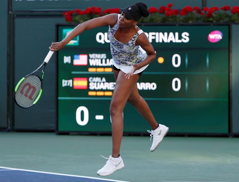 Venus Williams no le da opción a Carla Suárez y pasa a las semifinales .jpg