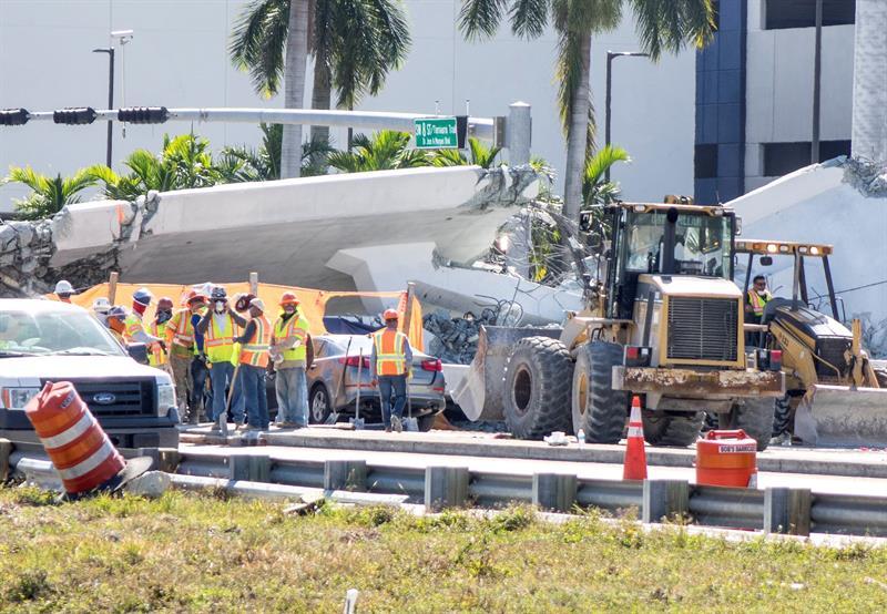 Implicados en la obra hablaron de un crujido poco antes de la caída de puente en Miami .jpg