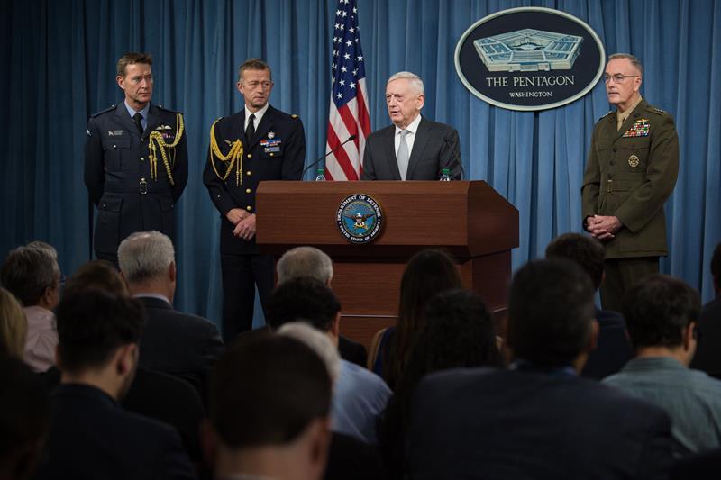 El jefe del Pentágono asegura que no hay más ataques planeados contra Al Asad .jpg