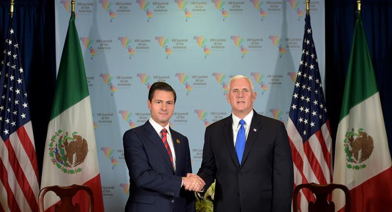 Pence no habló del pago del muro con Peña Nieto pero sí de tropas en la frontera .jpg