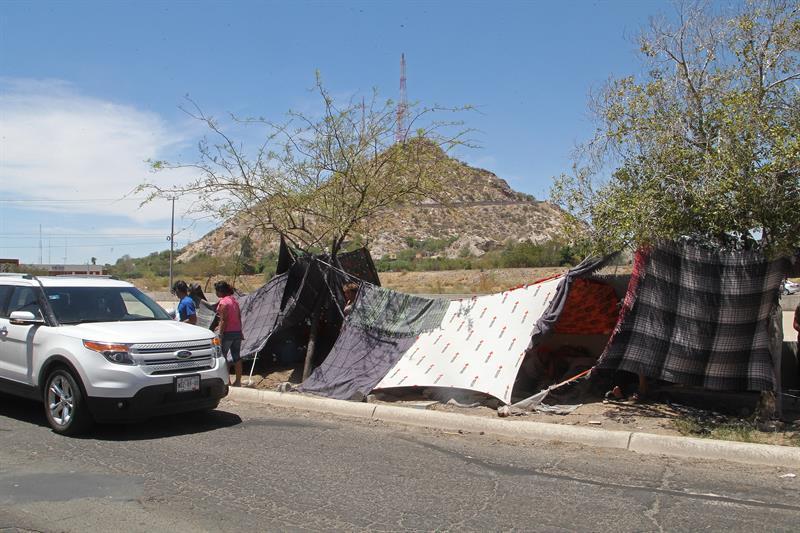 Grupo de caravana migrante inicia huelga hambre por incumplimientos de México .jpg