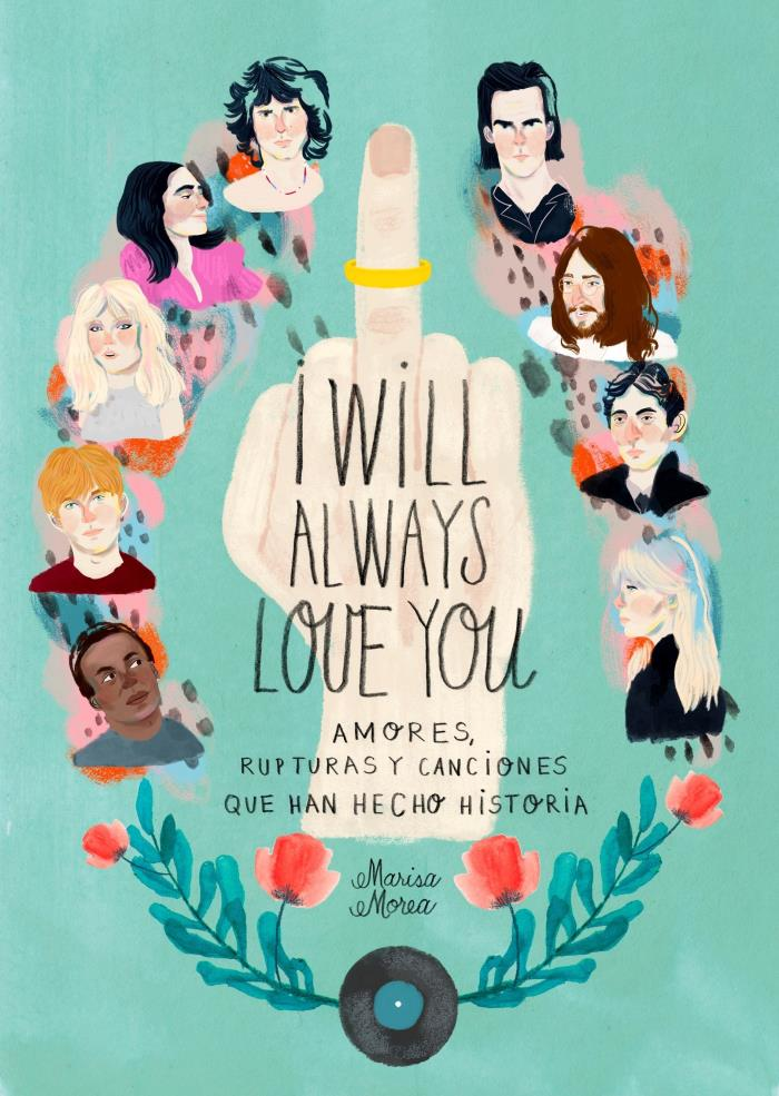 """Ilustración facilitada por la editorial Lunwerg. La música ha dado grandes historias de amor, finitas la mayoría, no como las canciones imperecederas que nacieron de su apogeo y que recoge """"I will always love you"""", un libro """"para ver y leer"""" de la ilustradora Marisa Morea"""