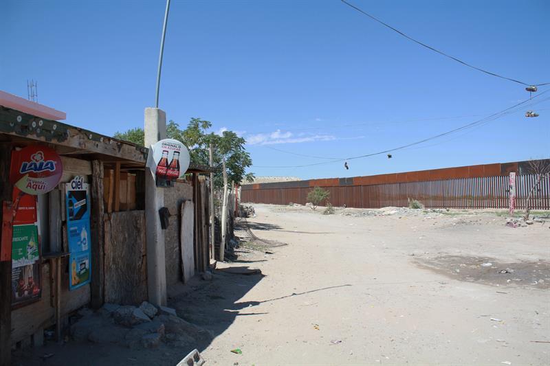 Fotografía del 16 de septiembre de 2018, que muestra una zona de la colonia Anapra, en ciudad Juárez en el estado de Chihuahua (México)