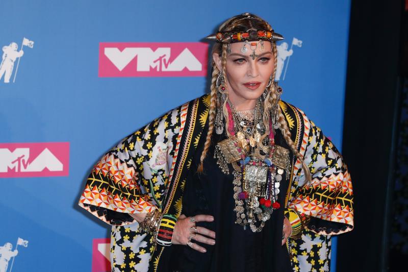 La cantante estadounidense Madonna en los Premios MTV Video Music Awards 2018 en Nueva York (EE.UU.).
