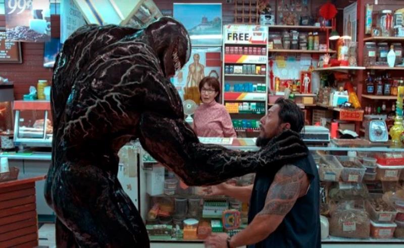 """Tom Hardy y la presión de ser """"Venom"""", el enigmático supervillano de Marvel Imagen de un fotograma de la película """"Venom"""", en la que el británico Tom Hardy interpreta al enemigo de Spiderman y en declaraciones ha afirmado que """"Vendom es un gran personaje y le encantó interpretar sus dos caras""""."""