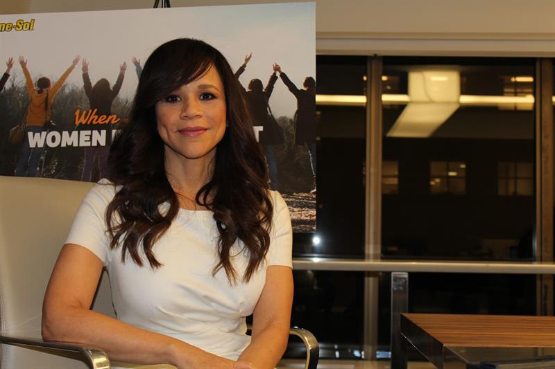Rosie Pérez, actriz estadounidense.
