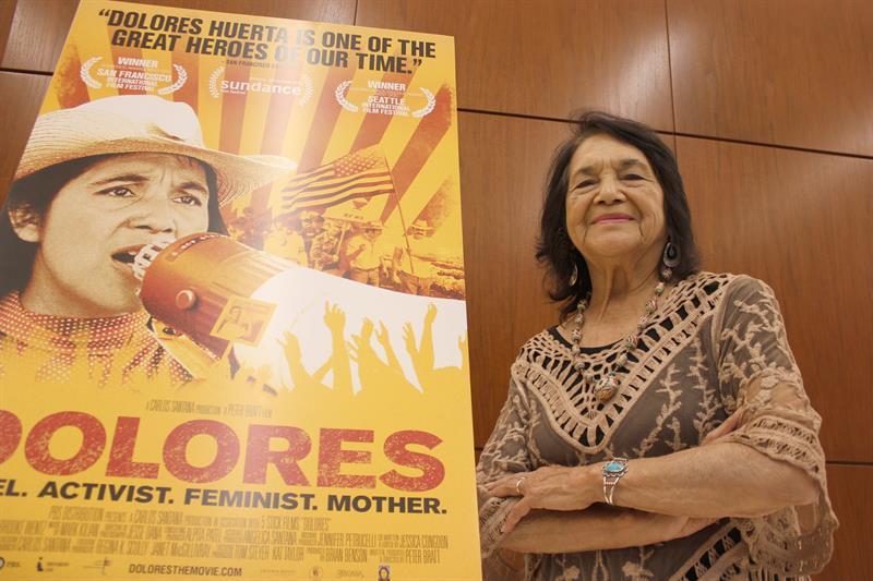 En la imagen, la veterana activista hispana Dolores Huerta.