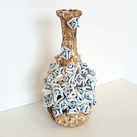 Blue Flowers Bottle