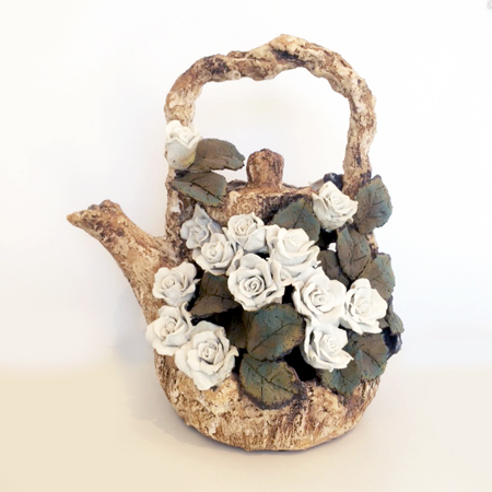 White Rose Teapot